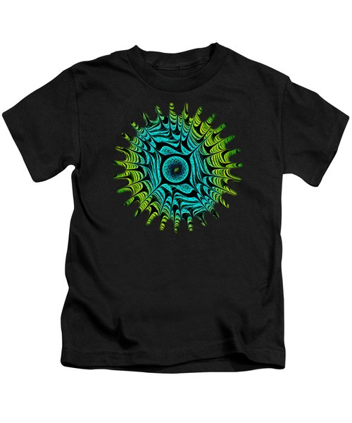 Green Dragon Eye Kids T-Shirt by Anastasiya Malakhova