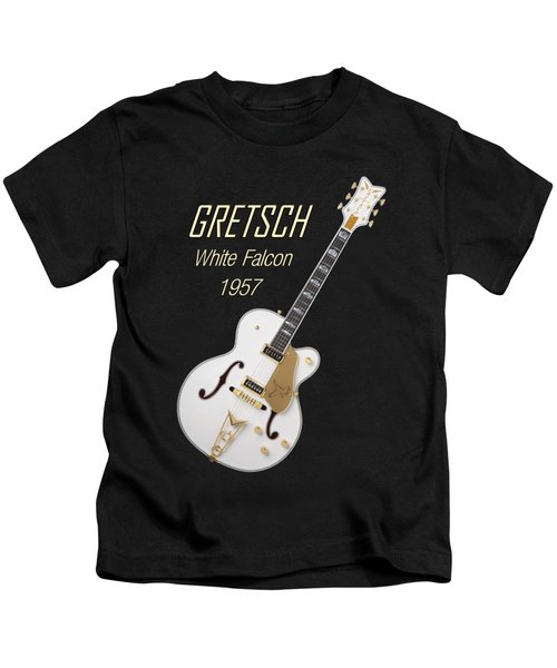 Gretsch  White Falcon 1957 Kids T-Shirt by Shavit Mason
