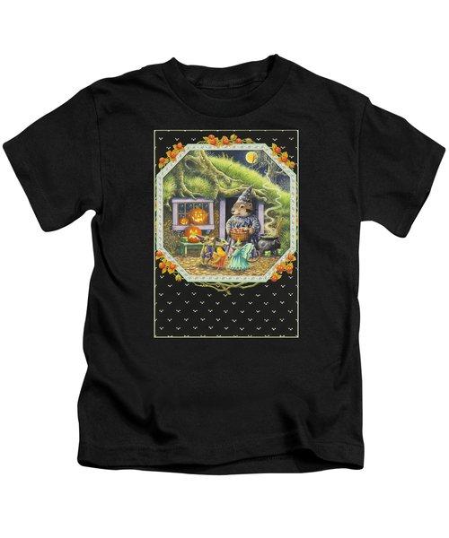 Halloween Treats Kids T-Shirt by Lynn Bywaters