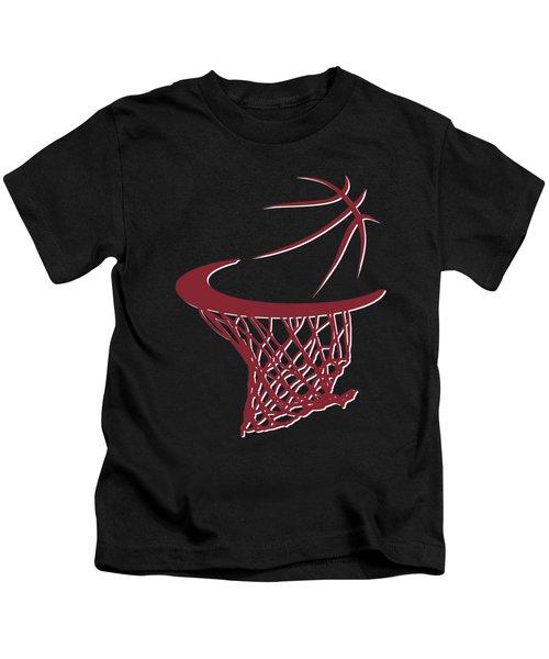 Heat Basketball Hoop Kids T-Shirt by Joe Hamilton