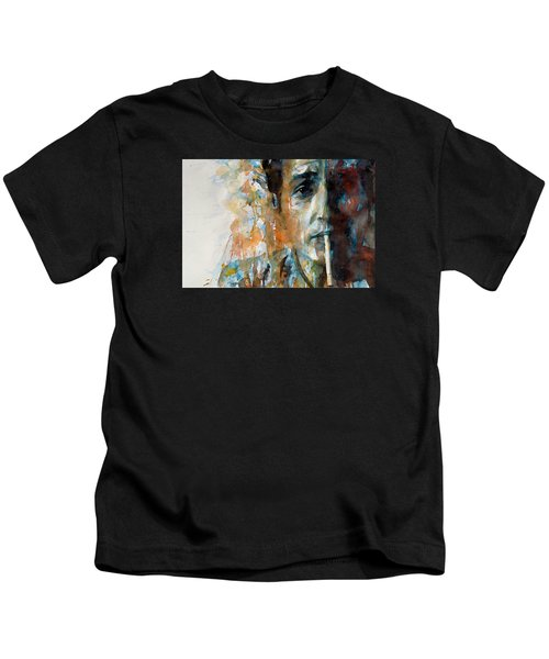 Hey Mr Tambourine Man @ Full Composition Kids T-Shirt by Paul Lovering