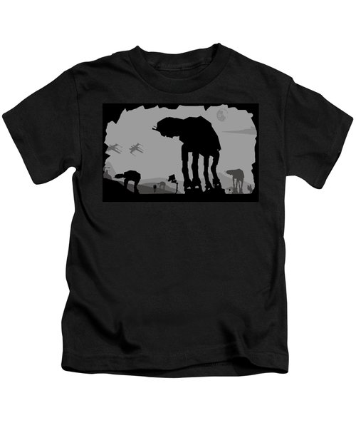 Hoth Machines Kids T-Shirt by Michael Bergman