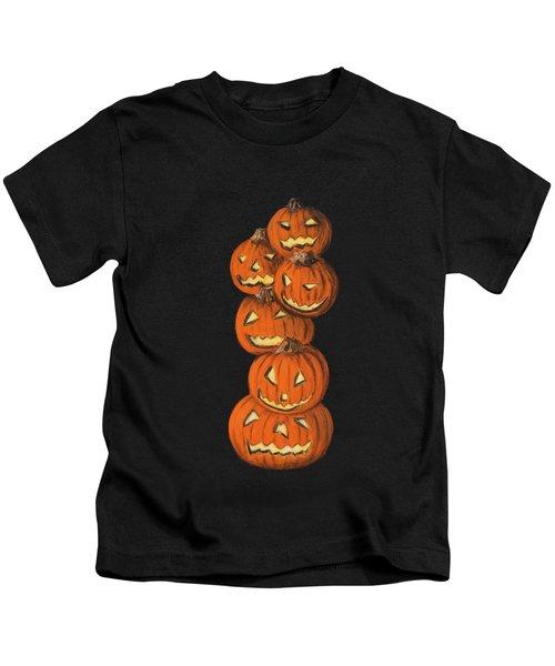 Jack-o-lantern Kids T-Shirt by Anastasiya Malakhova