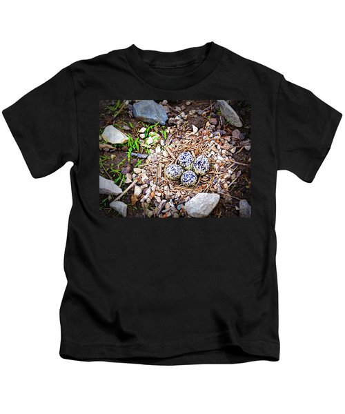 Killdeer Nest Kids T-Shirt by Cricket Hackmann