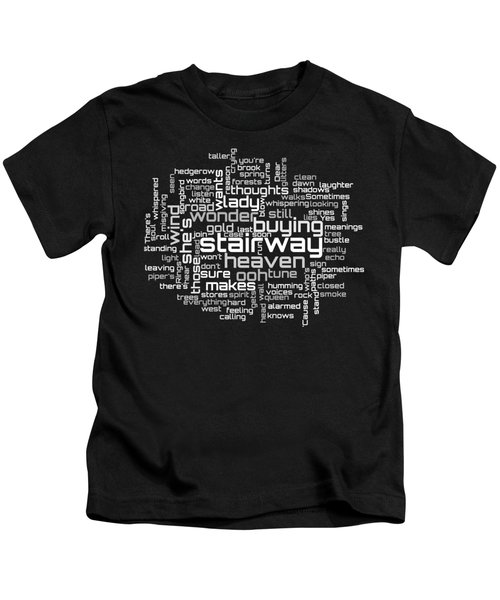 Led Zeppelin - Stairway To Heaven Lyrical Cloud Kids T-Shirt by Susan Maxwell Schmidt