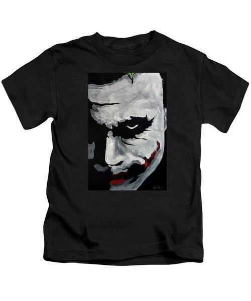 Ledger's Joker Kids T-Shirt by Dale Loos Jr
