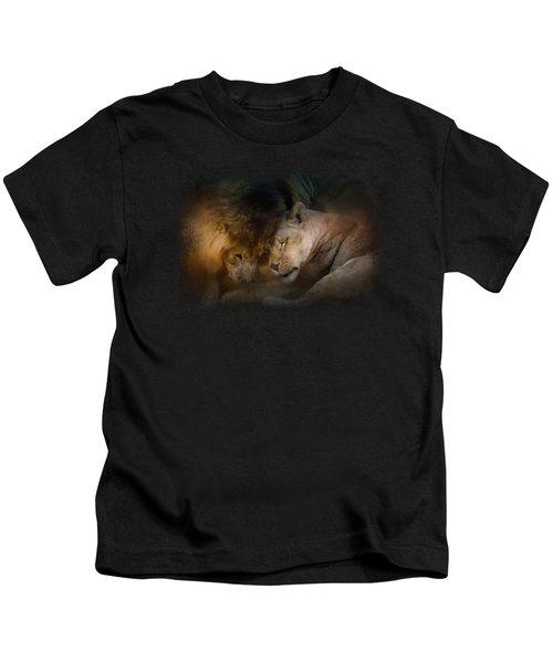 Lion Love Kids T-Shirt by Jai Johnson