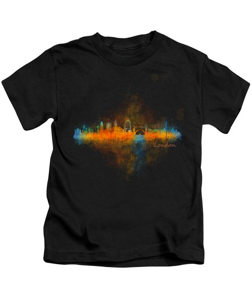 London City Skyline Uhq V4 Kids T-Shirt by HQ Photo