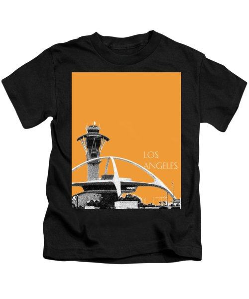 Los Angeles Skyline Lax Spider - Orange Kids T-Shirt by DB Artist