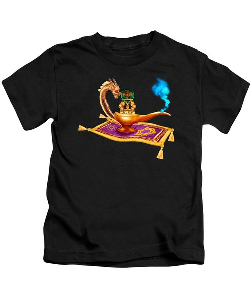 Magical Dragon Lamp Kids T-Shirt by Glenn Holbrook