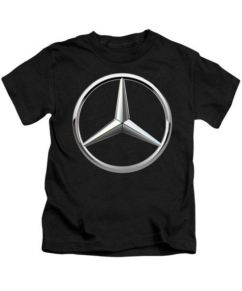 Mercedes-benz - 3d Badge On Black Kids T-Shirt by Serge Averbukh
