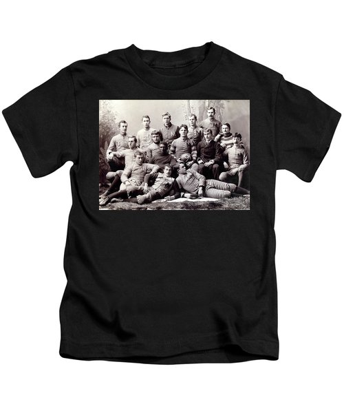 Michigan Wolverine Football Heritage 1890 Kids T-Shirt by Daniel Hagerman