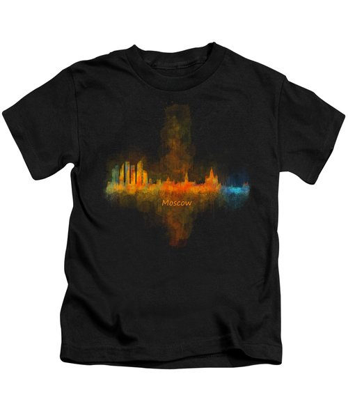 Moscow City Skyline Hq V4 Kids T-Shirt by HQ Photo