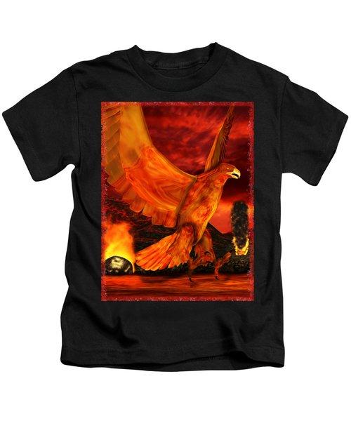 Myth Series 3 Phoenix Fire Kids T-Shirt by Sharon and Renee Lozen