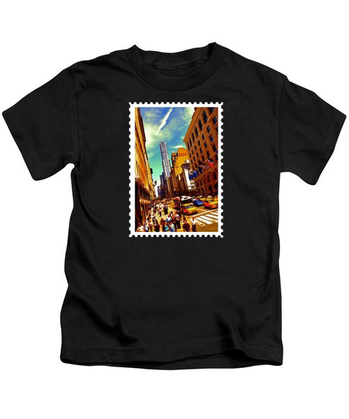 New York City Hustle Kids T-Shirt by Elaine Plesser