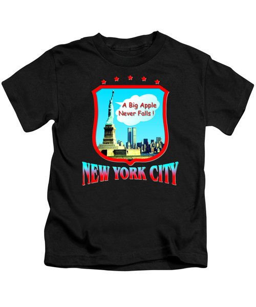 New York City Big Apple - Tshirt Design Kids T-Shirt by Art America Online Gallery