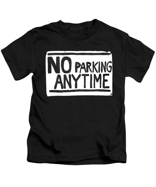 No Parking Kids T-Shirt by H James Hoff