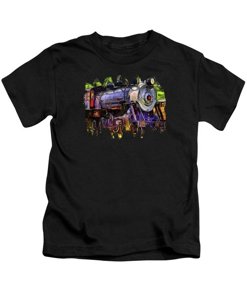 Old Locomotive No.90 Version 2 Kids T-Shirt by Thom Zehrfeld