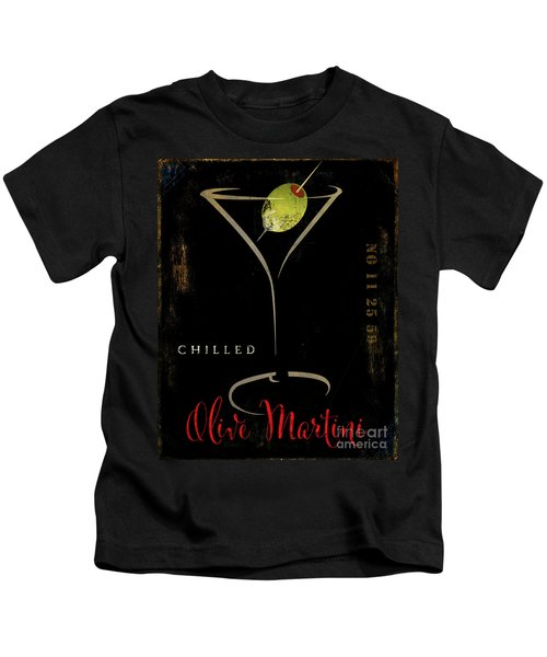 Olive Martini Kids T-Shirt by Mindy Sommers