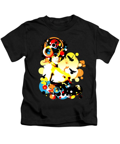 Onyx Doves Kids T-Shirt by Chris Andruskiewicz