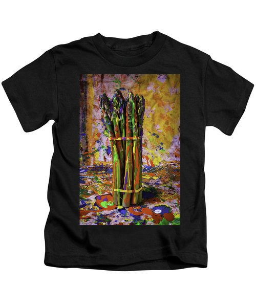Painted Asparagus Kids T-Shirt by Garry Gay