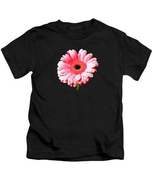 Pink Gerbera Kids T-Shirt by Scott Carruthers