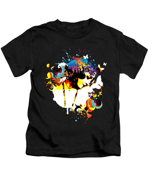 Poetic Peacock Kids T-Shirt by Chris Andruskiewicz