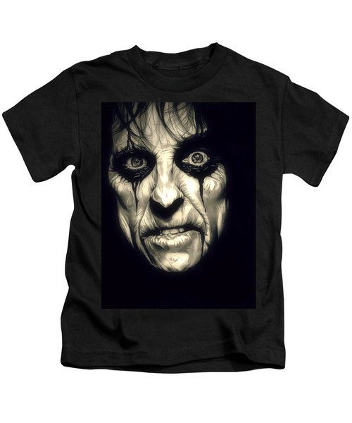 Poison Alice Cooper Kids T-Shirt by Fred Larucci