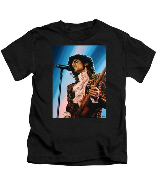 Prince Painting Kids T-Shirt by Paul Meijering