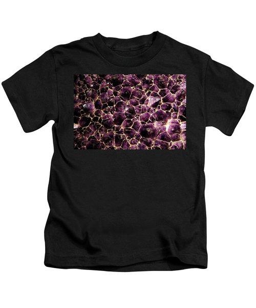 Purple Quartz  Amethyst Kids T-Shirt by LeeAnn McLaneGoetz McLaneGoetzStudioLLCcom