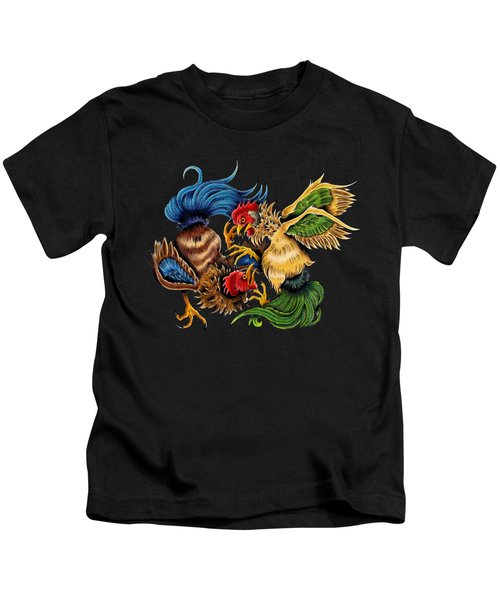 Rawkin' Cawks Kids T-Shirt by Vicki Von Doom
