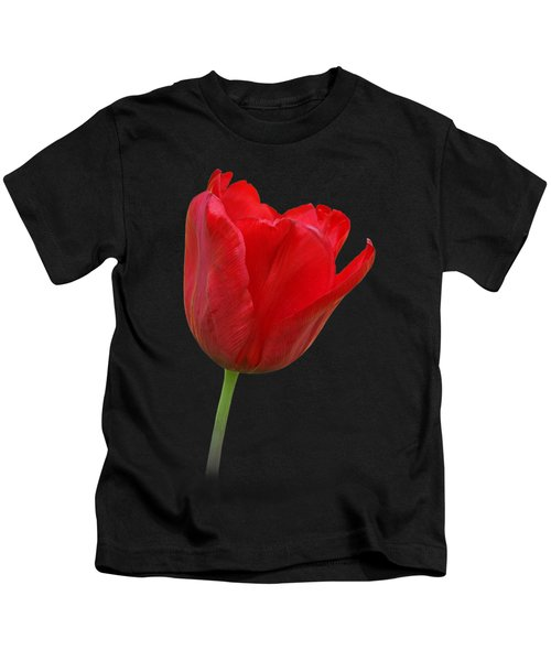 Red Tulip Open Kids T-Shirt by Gill Billington