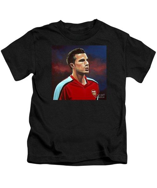 Robin Van Persie Kids T-Shirt by Paul Meijering