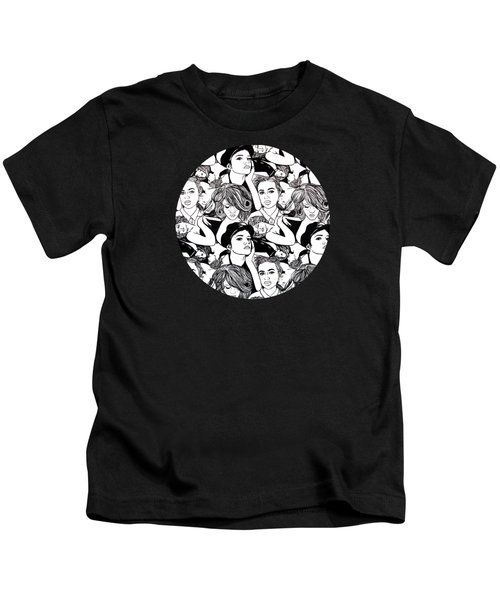 Seven Beauties Kids T-Shirt by Malinda  Prudhomme