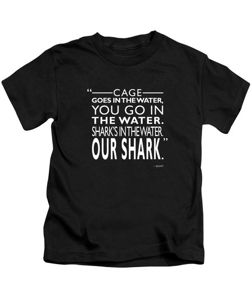 Sharks In The Water Kids T-Shirt by Mark Rogan