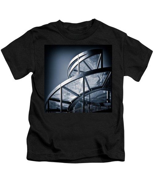 Spiral Staircase Kids T-Shirt by Dave Bowman
