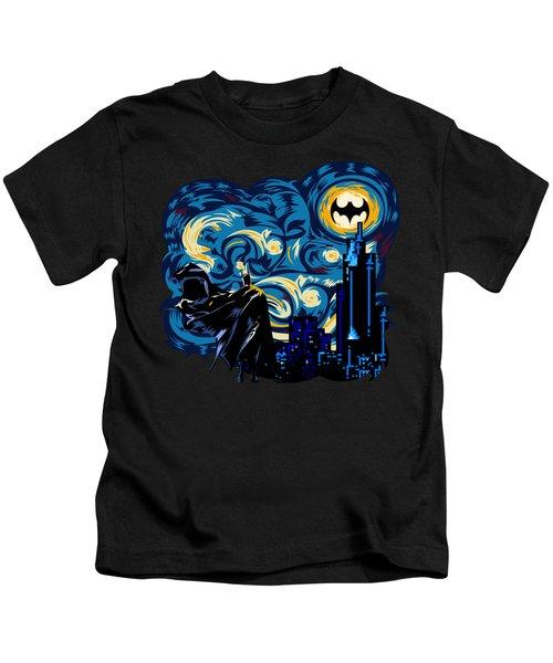 Starry Knight Kids T-Shirt by Three Second