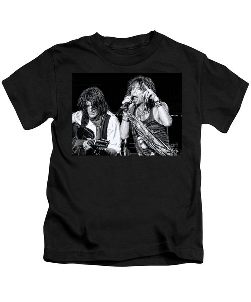 Steven Tyler Croons Kids T-Shirt by Traci Cottingham