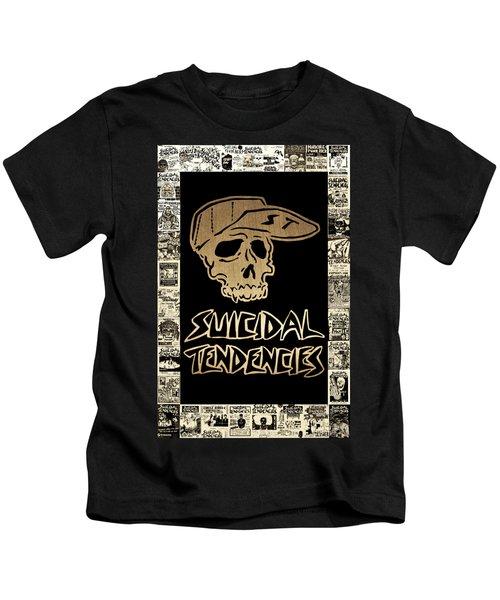 Suicidal Tendencies 2 Kids T-Shirt by Michael Bergman