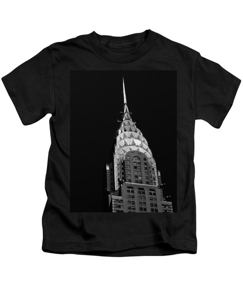The Chrysler Building Kids T-Shirt by Vivienne Gucwa