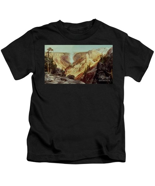 The Grand Canyon Of The Yellowstone Kids T-Shirt by Thomas Moran