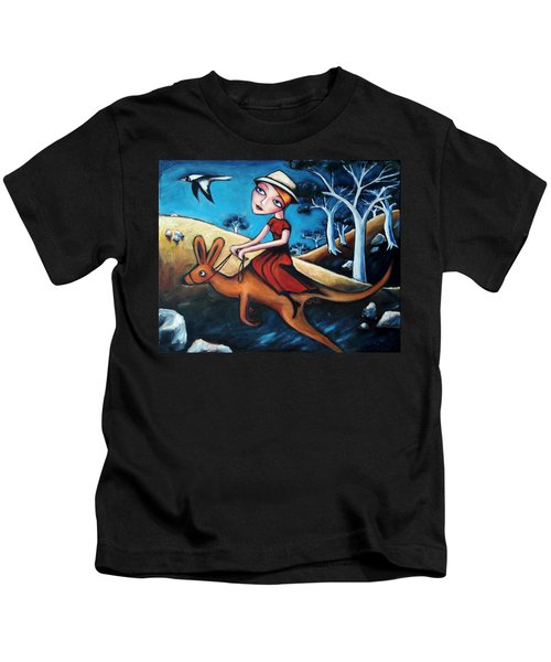 The Journey Woman Kids T-Shirt by Leanne Wilkes