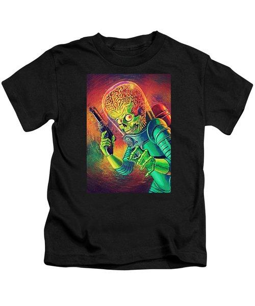The Martian - Mars Attacks Kids T-Shirt by Taylan Soyturk
