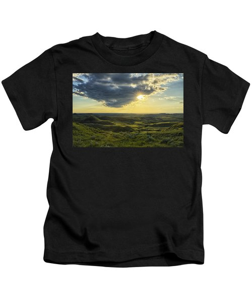 The Sun Shines Through A Cloud Kids T-Shirt by Robert Postma
