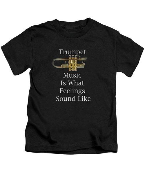 Trumpet Is What Feelings Sound Like 5583.02 Kids T-Shirt by M K  Miller
