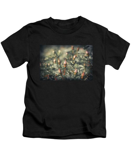 Unblown Rose Bush Kids T-Shirt by Konstantin Sevostyanov