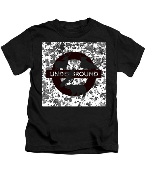 Underground 1 Kids T-Shirt by Alberto RuiZ