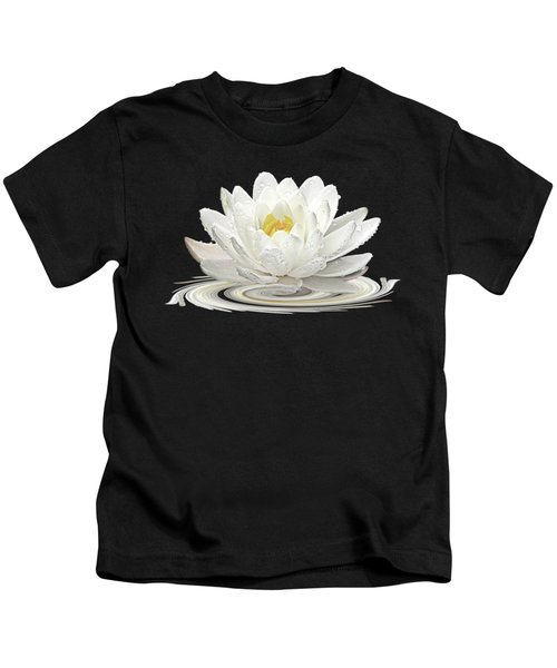 Water Lily Whirl Kids T-Shirt by Gill Billington