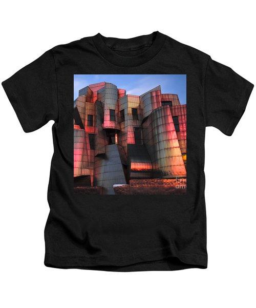 Weisman Art Museum At Sunset Kids T-Shirt by Craig Hinton