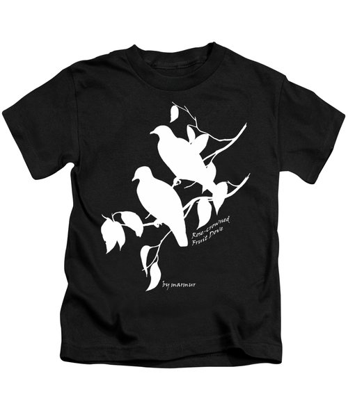 White Doves Kids T-Shirt by The one eyed Raven